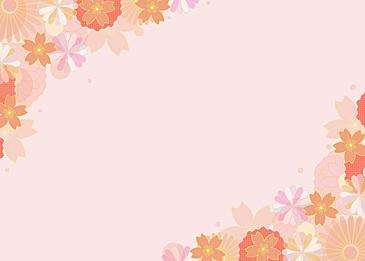 japanese style peach blossom festival background flower background