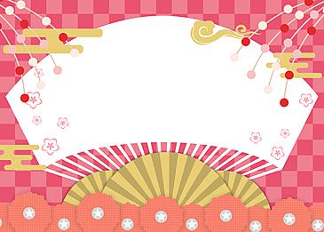 japanese style petal background festival background