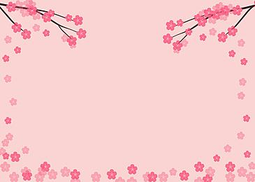 peach blossom festival petals falling background