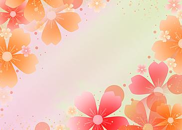 petal background gradient peach blossom festival girls festival background