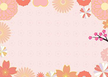 petal flower japanese festival background