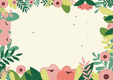 spring floral illustration background