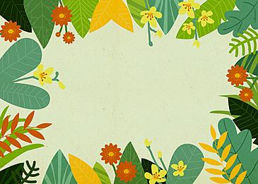 spring illustration flower background