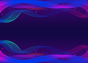 wavy line gradient color technology sense background