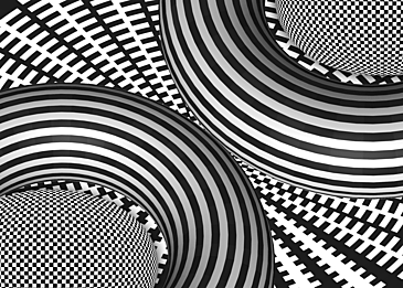 black and white stripes background optical misaligned sphere lines