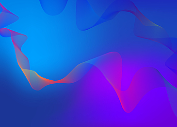 blue gorgeous wavy line gradient background