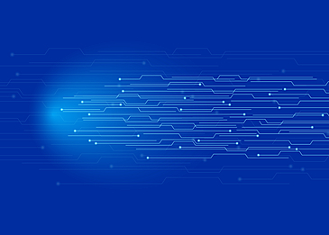 blue technology circuit line background