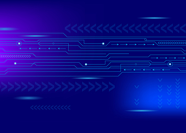 blue technology circuit style background