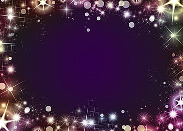 colorful starlight glitter dark border background