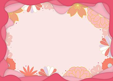 japanese style background petal flower peach blossom festival background