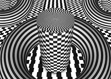 minimalist optical misplaced black and white background