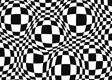 optical illusion psychedelic black and white background