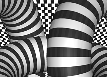 optical misalignment background psychedelic black and white stripes