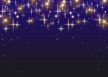 shining starlight blue gradient background