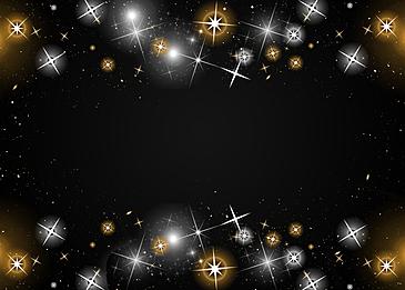 starlight shining black background