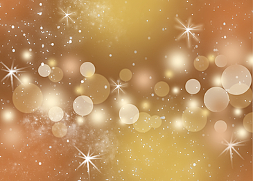yellow romantic starry sky stars light effect background