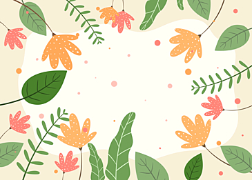 green yellow floral abstract background