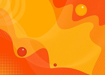 orange yellow fluid abstract background