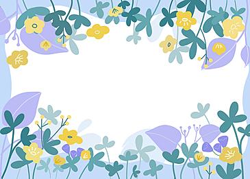 purple floral border background