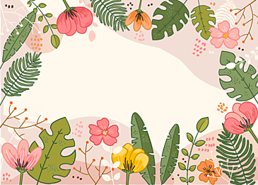 spring cartoon floral background