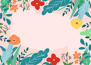 spring cartoon flowers background