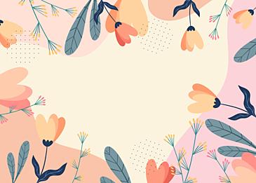 spring color floral plant background