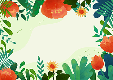 spring flowers blooming background