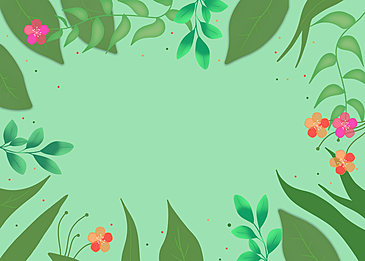 spring green plant petal flower background
