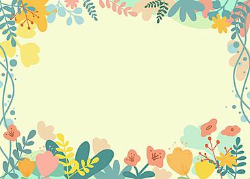 yellow flower plant border background