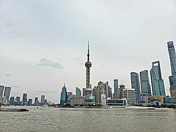 landmark building on the huangpu river in lujiazui shanghai
