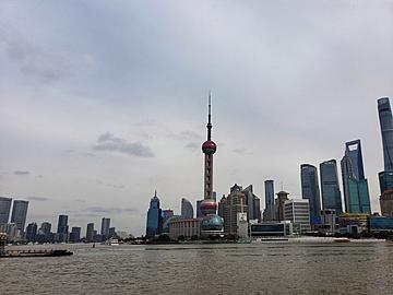 overlooking the landmark of shanghai lujiazui