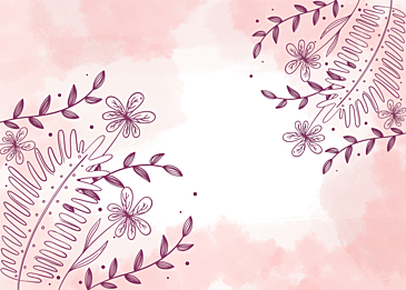 pink watercolor flower leaf vein background