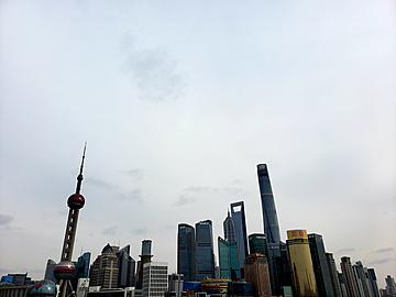 shanghai oriental pearl city architecture scenery
