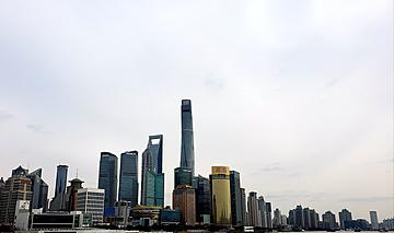 shanghai oriental pearl city lujiazui city