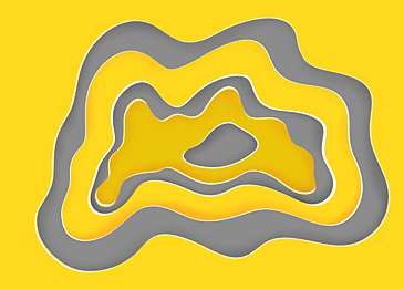 yellow gray abstract paper circle background