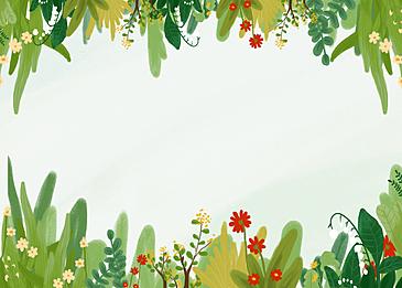 spring green blossom background