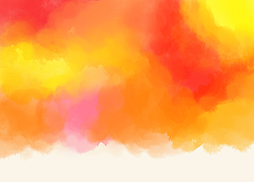 warm colorful red orange yellow watercolor smudge background