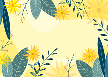 yellow green spring flower plant background