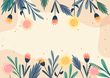 yellow spring flower plant background