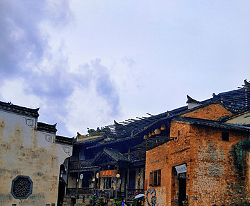 ancient buildings in huangling scenic area
