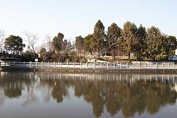 bridge river water in zhongxinjing park