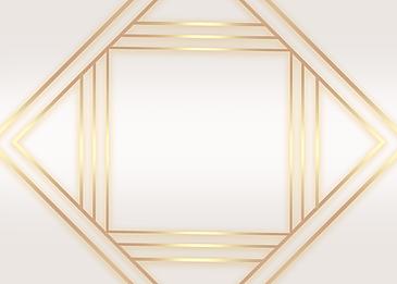 golden geometric frame line gradient background