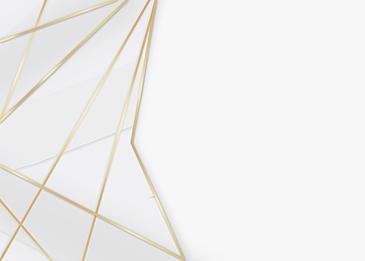 golden line geometric frame gray white background