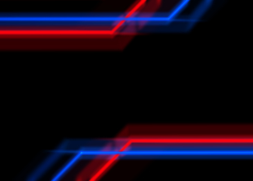 neon light effect red and blue background