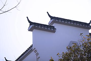 the roof of huizhou building in zhongxinjing park