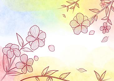 watercolor leaf veins background