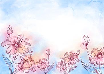 watercolor smudge leaf vein background