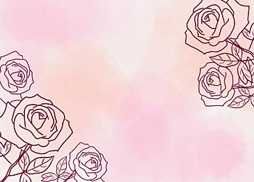 watercolor smudge rose leaf vein background