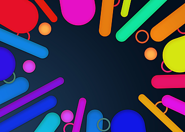abstract colorful strips on geometric background