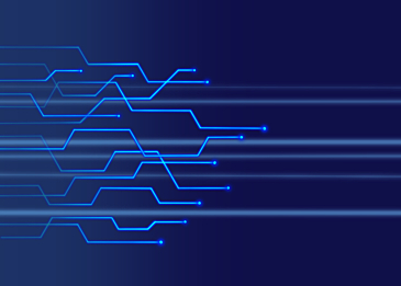 blue gradient technology circuit abstract background